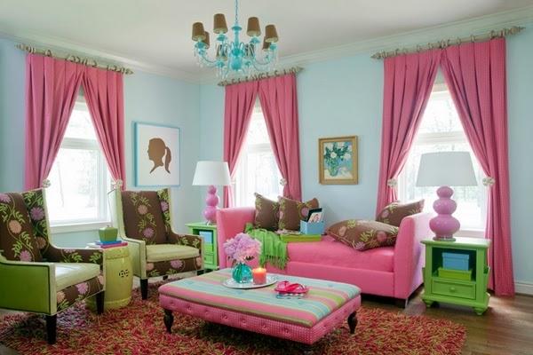 Pink Living Room Ideas: Beautiful Pink Living Room Design 2014