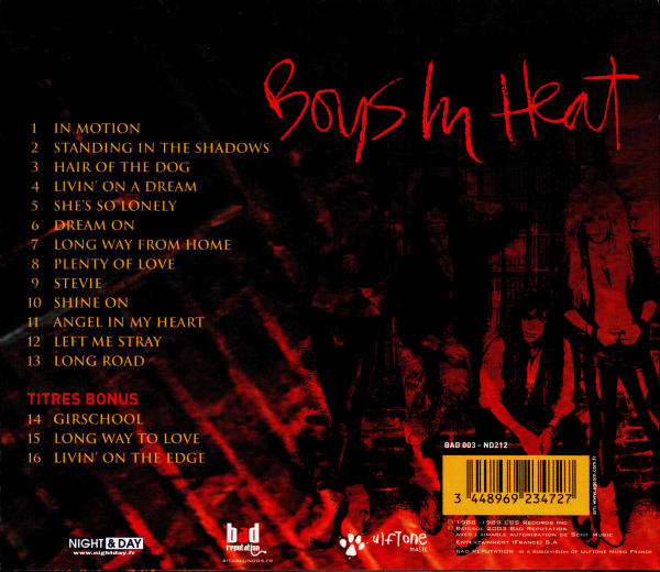 BRITNY FOX - Boys In Heat [Bad Reputation digitally remastered +3] back