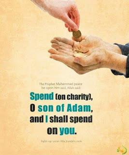 Dengan memberi maka Alah membalas lebih banyak