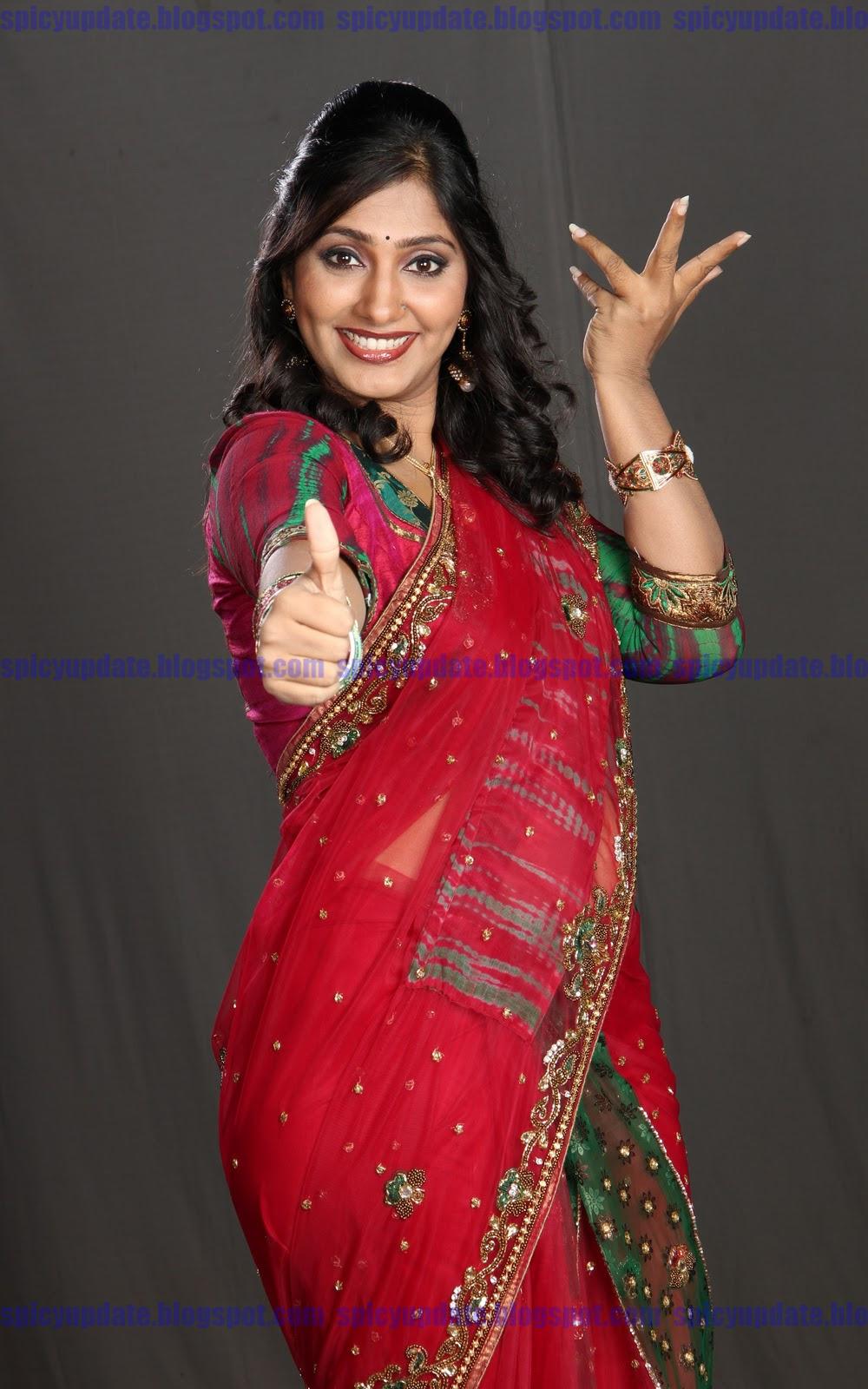 Spicy Saree: SPICY UPDATE: Jhansi Latest Red Hot Spicy Stills In Saree