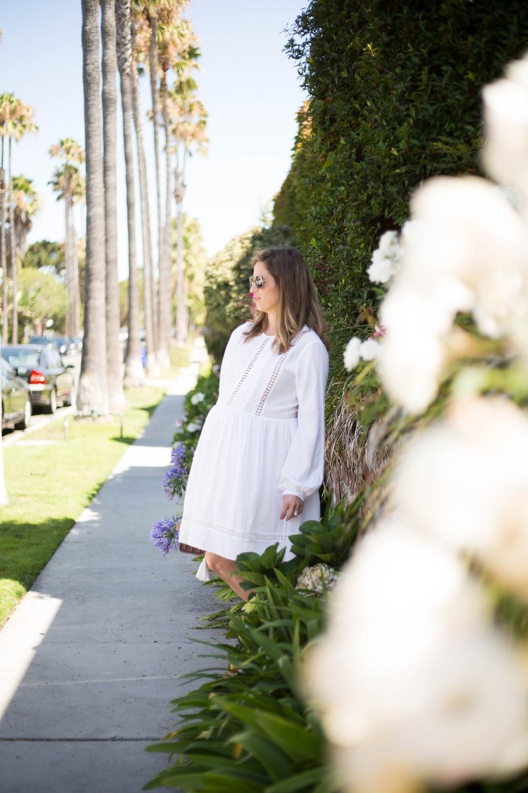 white long sleeve dress blogger style