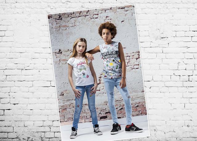 Moda remeras y pantalones  primavera verano 2018 Infantil. Ropa para niños y niñas.