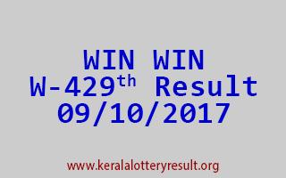 WIN WIN Lottery W 429 Results 9-10-2017