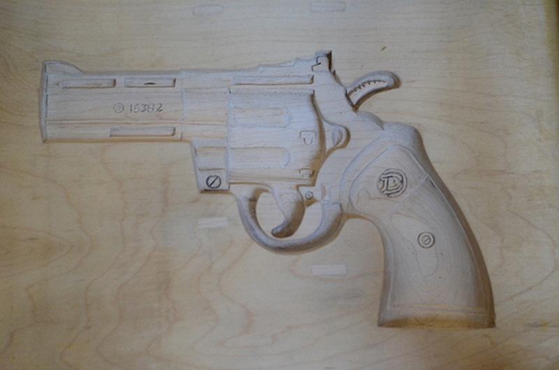gun chair detail