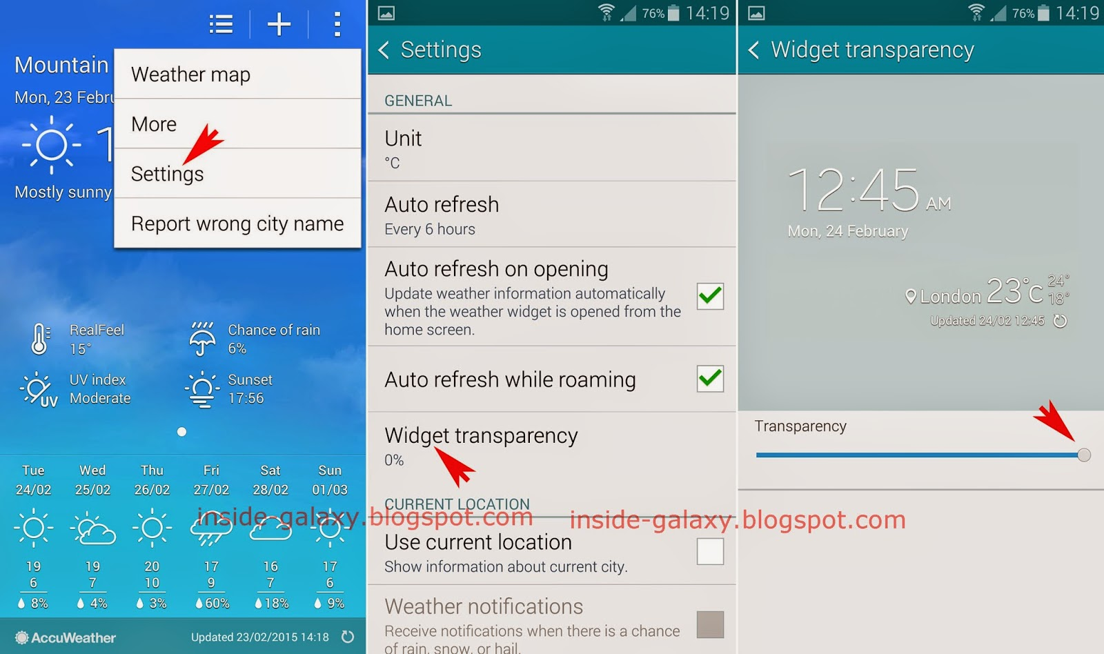 Samsung Galaxy S5: How to Make Accuweather Widget Becomes