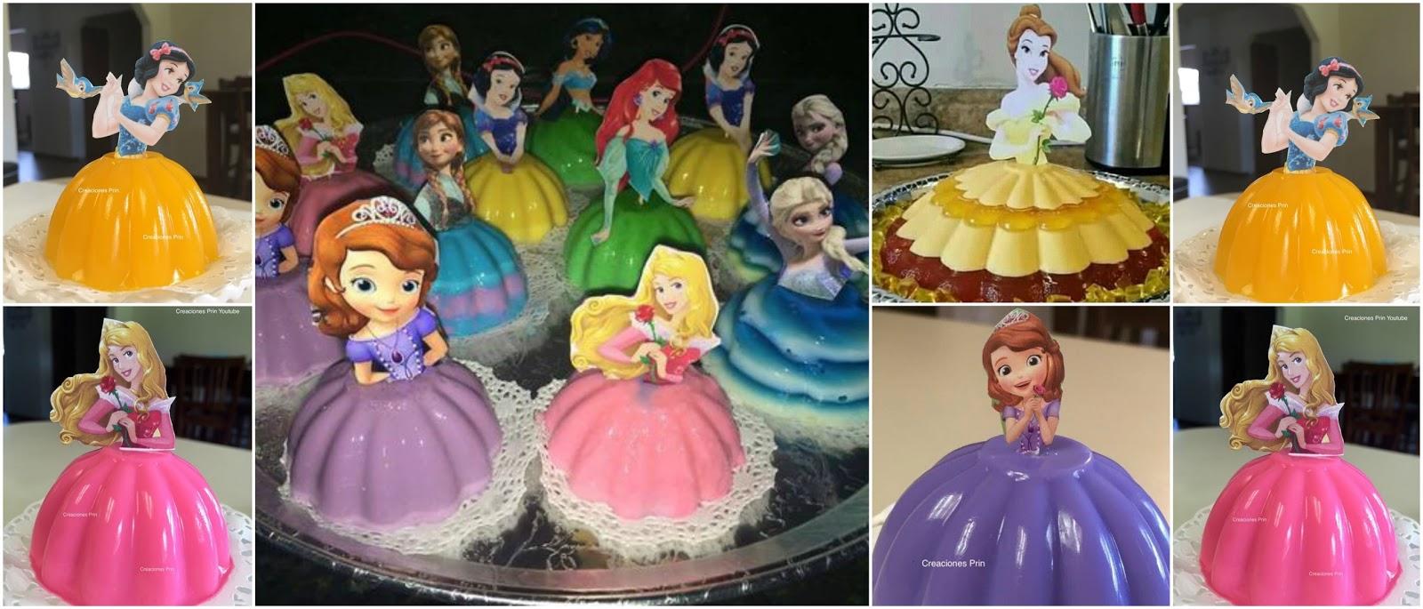 Aprende Cómo Hacer Gelatina De Princesas Para Fiestas Infantiles Lodijoella