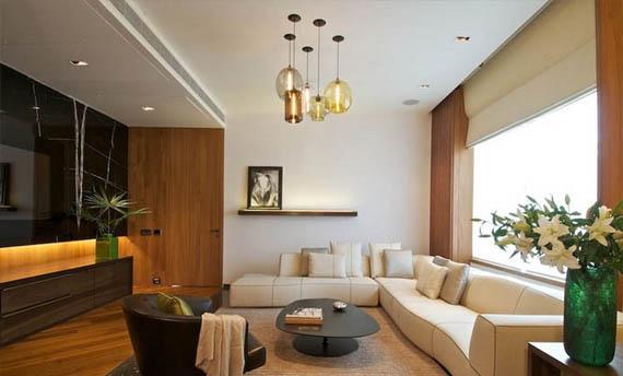 Warna Plafon Ruang Tamu Putih Minimalis