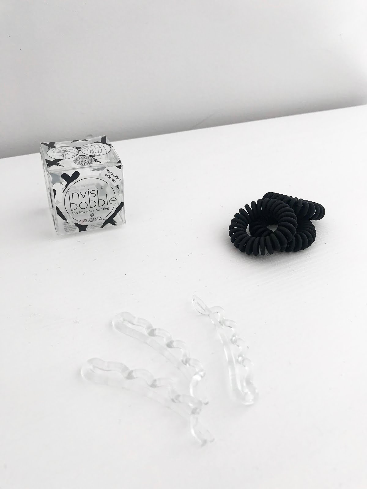 invisibobble original, hair tie, matt black, wavers, crystal clear, review, ici paris xl