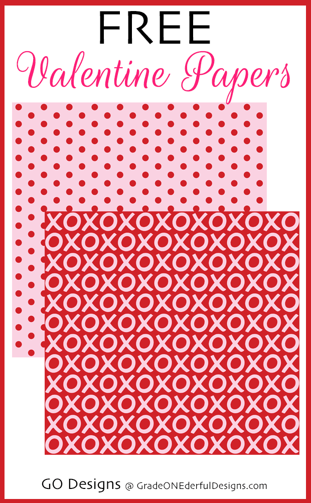 Free Red and Pink Valentine Digital Papers