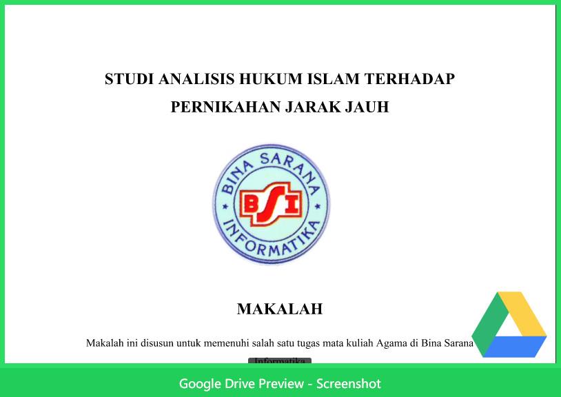 Contoh Makalah Agama Tentang Hukum Islam Terhadap Pernikahan Jarak Jauh