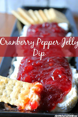 Cranberry Pepper Jelly Dip, shared by Life with the Crust Cut Off