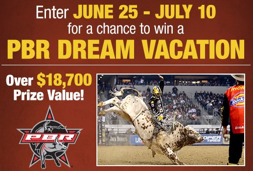Bass Pro Shops is giving away a kickin' vacation to one lucky Professional Bull Riding fan with an NRA National Sporting Arms Museum Tour with Luke Snyder, PBR meet and greets and more!