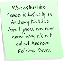Worcestershire Sauce Sticky Note