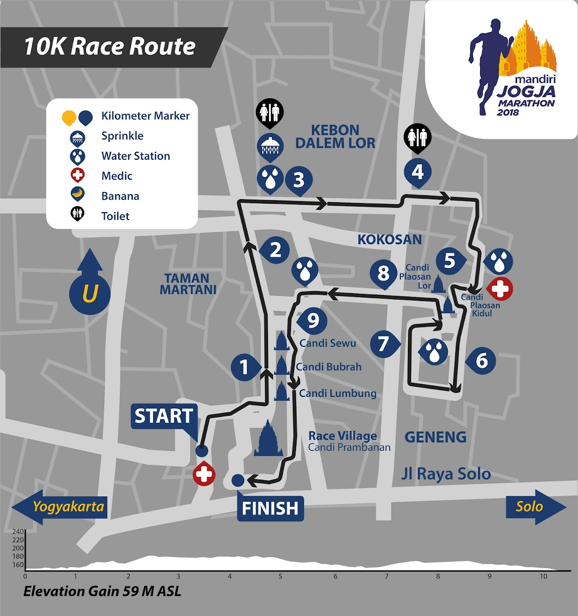 10K 👟 Mandiri Jogja Marathon • 2018