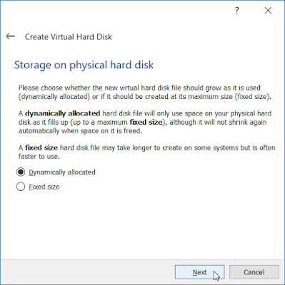 VirtualBox - Stroage on physical hard disk