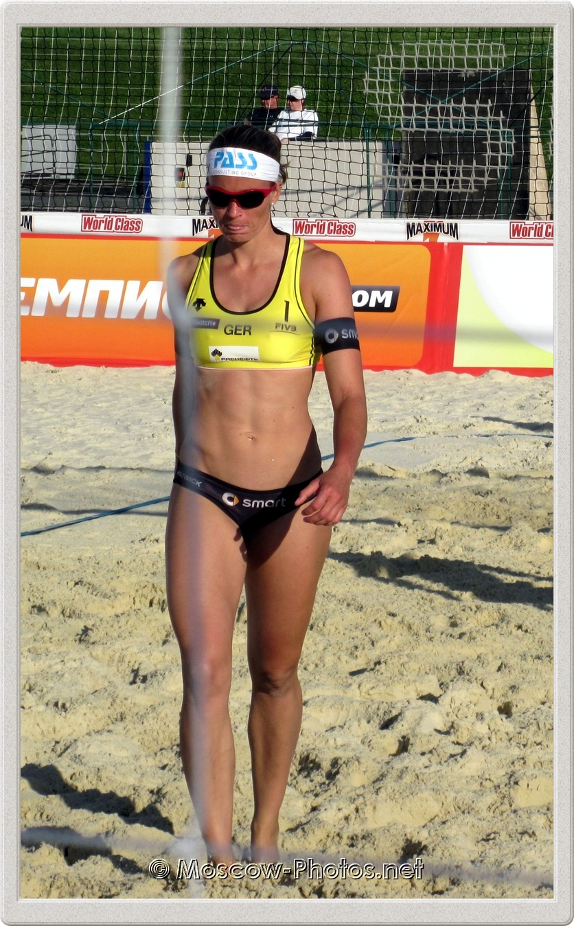 Beach Volleyball Player Katrin Holtwick (GER) In Moscow