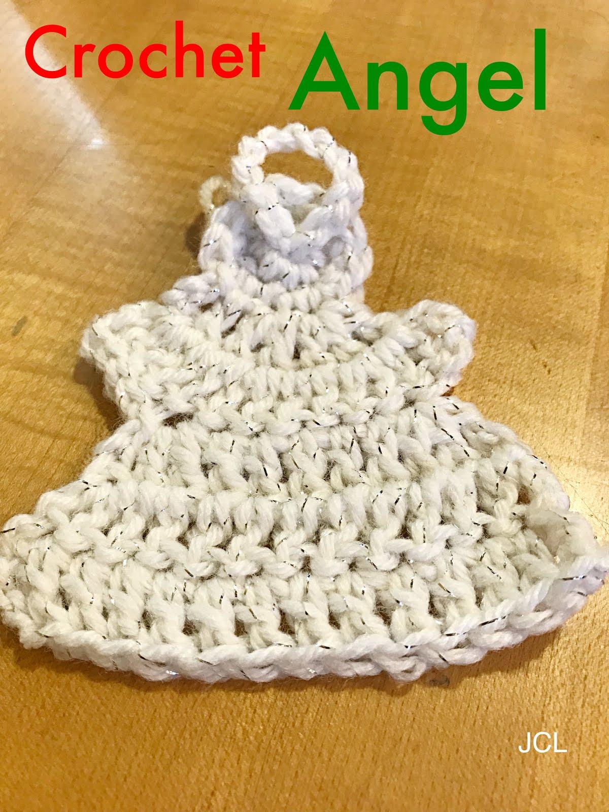 Julies Creative Lifestyle Crochet Angel Ornament