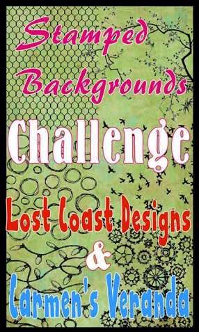 Challenge #51 STAMPED BACKGROUND