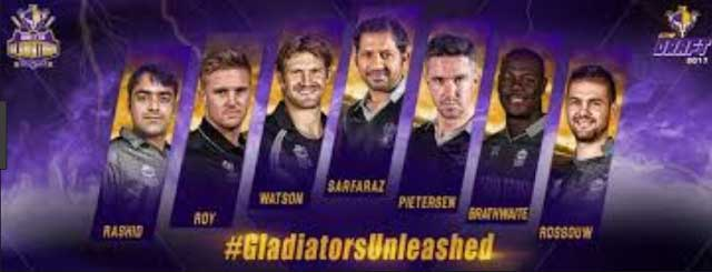 Quetta Gladiators Players 2018