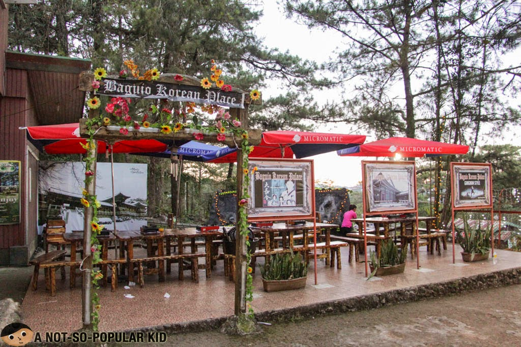 Outdoor dining area of Kung Jeon Korean Restaurant in Baguio