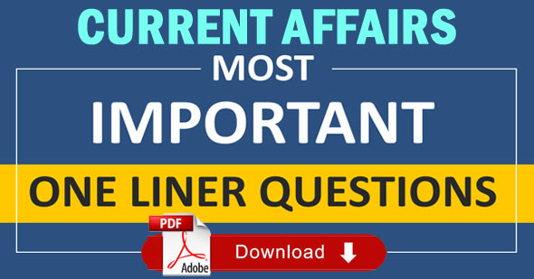 One Liners Current Affairs in Hindi