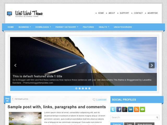 WestWard Blogger Template