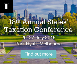 Ad for States' Taxation Conference