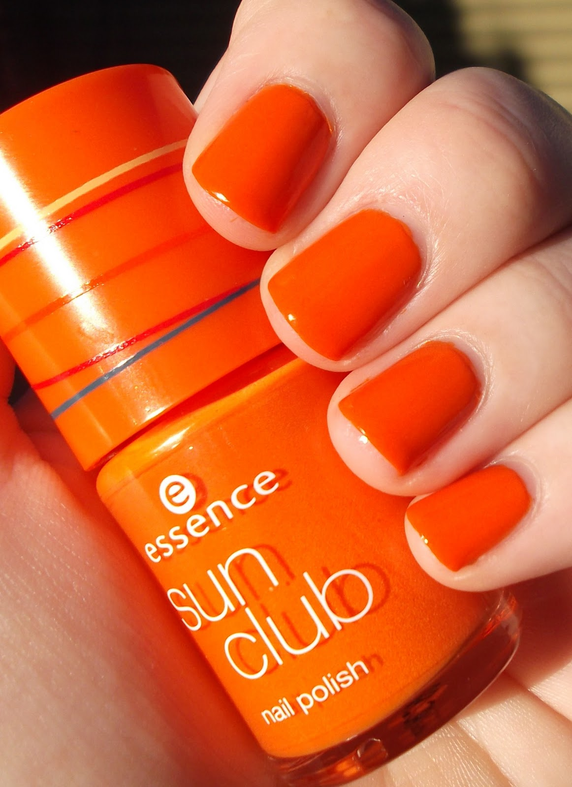 Orange Nails With Chevron And Glitter Nail: Obsessed With All Things Shiny: Essence