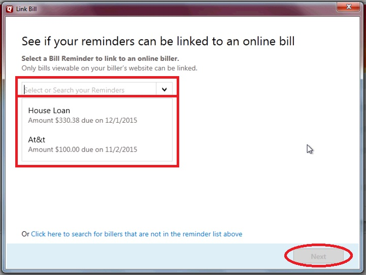Add reminders Quicken - Quicken Tips