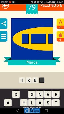 Iconica Italia Pop Logo Quiz soluzione pacchetto 6 livelli 79-100