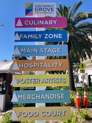 sign for activities at festival