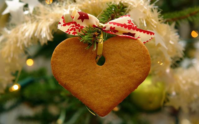 Kerst achtergrond met koekje