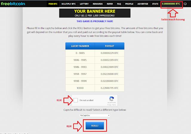 2 - Cara mudah mendapatkan bitcoin gratis