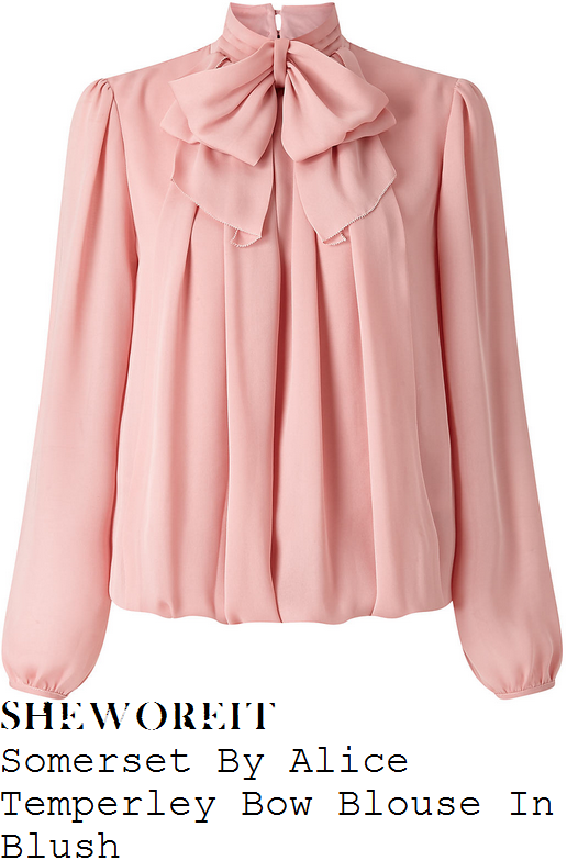 alex-jones-somerset-by-alice-temperley-blush-pink-long-blouson-sleeve-high-neck-layered-bow-detail-drape-front-blouse