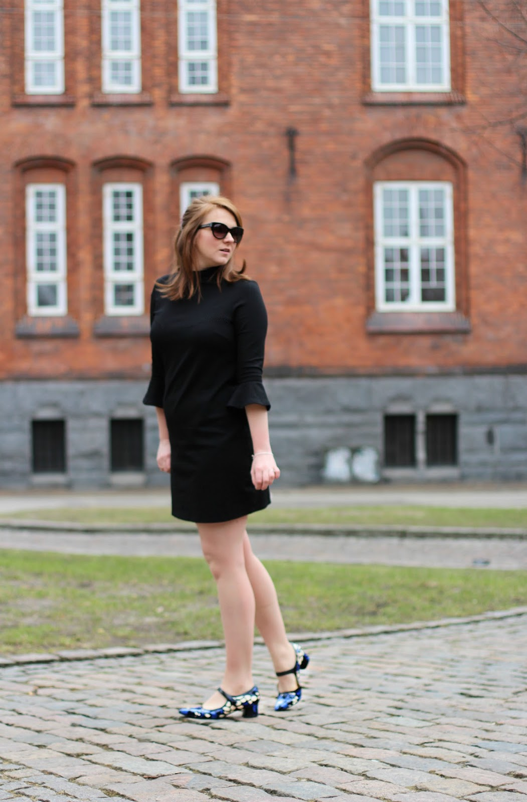 little black dress and clarks v and a swixties faye shoes