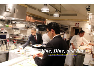 The busy kitchen expediting at the French Laundry