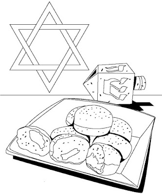 hanukkah-symbols-coloring-pages