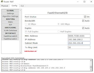 Cara Konfigurasi Dynamic NAT Pada Cisco Paket Tracer Beserta Troubleshooting Jaringan