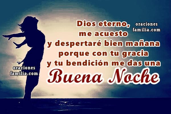Antes de dormir haz esta oración a Dios para la buena noche de descanso, imágenes y oraciones por Mery Bracho. Feliz noche. Oraciones cortas.