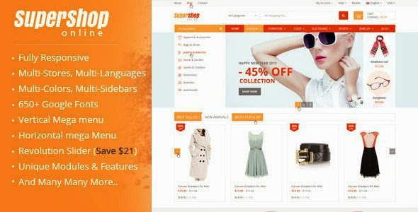 Free Multipurpose Prestashop Theme 2015