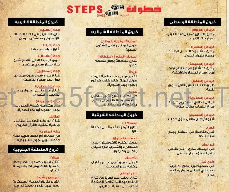 خطوات Steps فروع