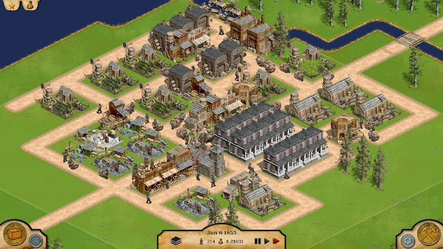 Screenshot of city builder game 1849