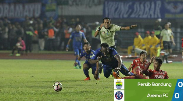 AREMA FC Tahan Imbang PERSIB BANDUNG Tanpa Gol