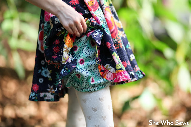 Clover field print little girl bloomers