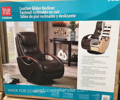 Costco 1024885 - Relax in style with the True Innovations Leather Swivel Glider Recliner
