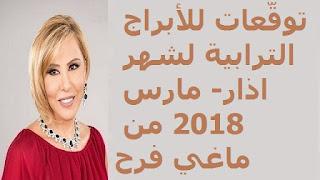 توقّعات للأبراج الترابية لشهر اذار- مارس 2018 من ماغي فرح
