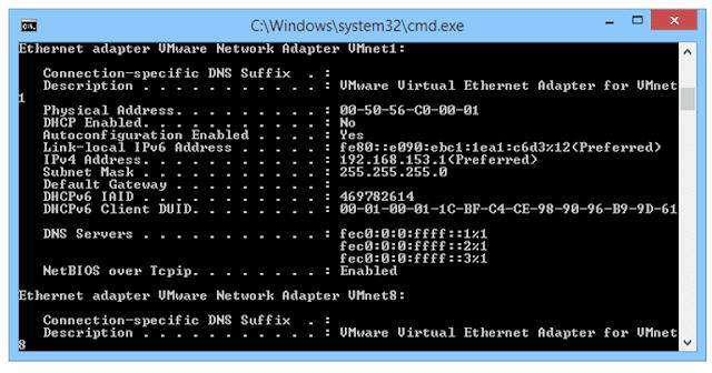 ipconfig command 581134623df78c2c735677e5