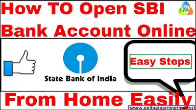 How to open online SBI saving bank account