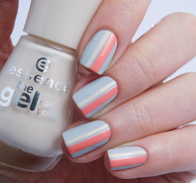 Striping Mani with new essence colors 2016