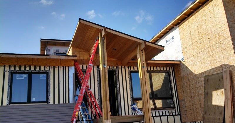 New Lizer Homestead: Exterior Finish Work Starts
